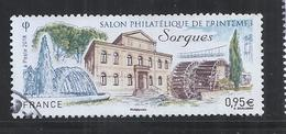 FRANCE 2018 - SPRING PHILATELIC SALON - USED OBLITERE GESTEMPELT USADO - CACHET ROND - Used Stamps