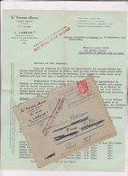 PUB SUR   LETTRE  (+ Envel  Reponse ) VITICULTEUR FONTBONNE En 1936!   (avec Son Enveloppe Timbree) - 1900 – 1949