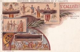 2 CARTES / SOUVENIR DES CATACOMBES DE ST CALLISTE / PETIT PRIX - Roma