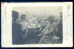 Cpa Carte Photo Russie Caucase Général Tsariste Dénikine Décembre 1908 Mission Militaire Française , Tsar  SEPT18-26bis - Russie