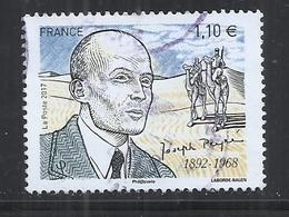 FRANCE 2017 - JOSEPH PEYRE, WRITER - USED OBLITERE GESTEMPELT USADO - CACHET ROND - France