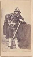 Photo Cdv Italia Costumi Costume Bandito ? Bandit ? Militaire ? Fusil Pistolet , Italie Italy  PRIX FIXE - Photos