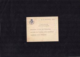 VP13.106 - MILITARIA - Italie - Carta - Casa Militare Di Sua Maesta Il Re - Cartes