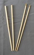 Lot De 2 Paires De Baguettes Indochinoises En Ivoire - Art Asiatique