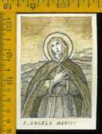Santino Dipinto A Mano Santa Angela Merici - Santini