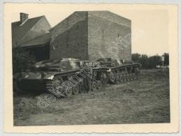 Guerre De 1939-45 . Tanks Allemands . Char . Vraisemblablement Dans L'Oise . - Guerra, Militari