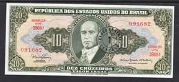 BRASIL 1966.  10 CRUZEIROS  SOBRECARGADO 1 CENTAVO. GETULIO VARGAS  PICK Nº 183  . B074 - Brasil