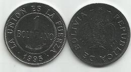 Bolivia 1 Boliviano 1995. High Grade - Bolivia