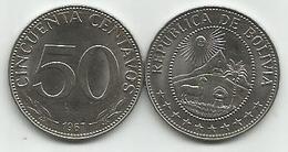 Bolivia 50 Centavos 1967. KM#190 High Grade - Bolivie