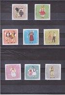 ALBANIE 1967 COSTUMES Yvert 1001-1008 NEUF** MNH - Albanie