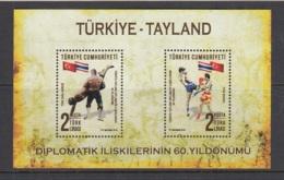 8.- TURKEY 2018 60*ANNVERSARY OF DIPLOMATIC RELATIONS BETWENN TURKEY-THALAIND - Nuevos