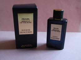 RARE MINIATURE Eau De Parfum MIRACLE OF THE ROSE De PRADA 10 Ml - Miniatures Modernes (à Partir De 1961)