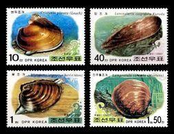 North Korea 2002 Mih. 4548/51 Marine Fauna. Shellfish MNH ** - Korea (Nord-)