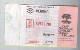 VERONA-AVELLINO...1987-88...TICKET CALCIO..SOCCER..FOOTBALL.....BIGLIETTO PARTITA - Match Tickets