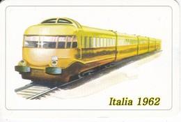 CALENDARIO DE ESPAÑA DE UN TREN DE ITALIA DEL AÑO 2008 (CALENDRIER-CALENDAR) TREN-TRAIN-ZUG - Tamaño Pequeño : 2001-...