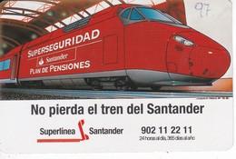 CALENDARIO DEL SANTANDER DE UN TREN DEL AÑO 1997 (CALENDRIER-CALENDAR) TRAIN-ZUG - Calendarios