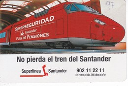 CALENDARIO DEL SANTANDER DE UN TREN DEL AÑO 1997 (CALENDRIER-CALENDAR) TRAIN-ZUG - Calendars