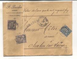 Enveloppe Chargé 450 Francs - Marcophilie (Lettres)