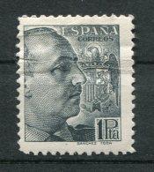 9078  ESPAGNE  N°672 *  1Pta Gris-noirGénéral Francisco Franco   1939    B/TB - 1931-50 Neufs