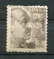 9079  ESPAGNE  N°688 *  2Ptas Brun Foncé  Général Francisco Franco   1940-45   B/TB - 1931-50 Neufs