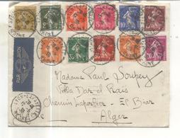 Enveloppe Avec Série De Semeuse - Marcophilie (Lettres)