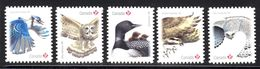 2018  DIE CUT From QUATERLY PACK,  Birds Whooping Crane, Steller's Jay, Snowy Owl, Black-capped Chickadee, Canada Goose - Carnets