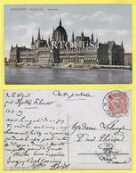 Budapest Parlament 1909 ( Superbe Oblitération + 10 Fillér Hongrois ) - Hongrie