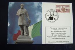 2005  GIUSEPPE  MAZZINI  BICENT   MOLFETTA      BARI PUGLIA     FDC  MOSTRA FILATELICA  FIRST DAY  PREMIER JOUR  MAXIMUM - Francobolli (rappresentazioni)
