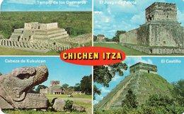 MEXIQUE CHICHEN ITZA -KUKULCAN-VIAGGIATA 1966 - Messico