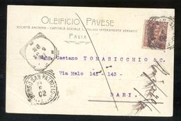 CARTOLINA COMMERCIALE - PAVIA - 1902 - OLEIFICIO PAVESE - Negozi