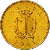 Monnaie, Malte, Cent, 2001, British Royal Mint, SUP, Nickel-brass, KM:93 - Malte