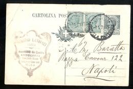 CARTOLINA COMMERCIALE - LUCCA - 1922 -  LANDUCCI - MACCHINE DA CUCIRE - Negozi