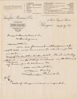 Glasgow, Sinclair, Rennie & Co, Champgne Piper-Heidsieck Reims And Others, 1906 - United Kingdom