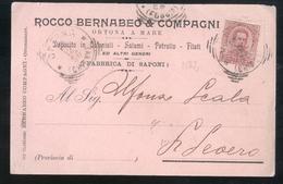CARTOLINA COMMERCIALE - ORTONA A MARE - CHIETI - 1896 - BERNABEO SALUMI COLONIALI (2) - Negozi