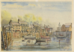 ART - CORNWALL - PADSTOW HARBOUR By DEREK WATSON  Art411 - England