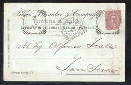 CARTOLINA COMMERCIALE - ORTONA A MARE - CHIETI - 1896 - BERNABEO SALUMI COLONIALI (3) - Negozi