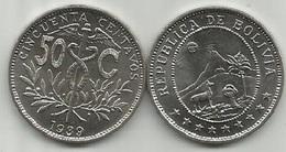 Bolivia 50 Centavos 1939. High Grade - Bolivie