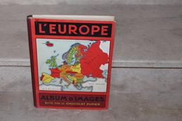 Album L'europe Edité Par Le Chocolat Pupier (complet De Ses 252 Vignettes) - Sammelbilderalben & Katalogue