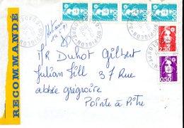 2- GUADELOUPE Cachet PIGEON Guadeloupe (peu Courant) Marianne De Briat AFFRANCHISSEMENT TRICOLORE - Guadalupe (1884-1947)