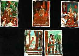 72552) Thailand 1996, The King Golden Jubilee, Stamp Set Of 5 MNH** - Tailandia