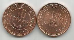 Bolivia 10 Centavos  2008. High Grade - Bolivia