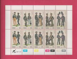 CISKEI, 1984, MNH Stamp(s) In Full Sheets, Military Uniforms, Nr(s) 65-69 - Ciskei