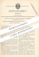 Original Patent - Charles Hahlo , Ch. Edward Liebreich , Bradford England , 1883 , Schutz Vor Kettfadenbruch Am Webstuhl - Historische Dokumente