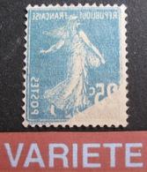 R1692/34 - 1907 - TYPE SEMEUSE - N°140r IMPRESSION RECTO-VERSO - TIMBRE NEUF(*) - Errors & Oddities
