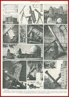 Astronomie. Lunettes, Observatoires De Paris, De Yerkes, Lick, Matériels ...recto. Astres Verso. Larousse 1948. - Autres