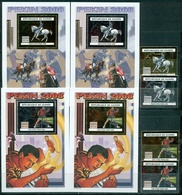 Guinea, Olympic Games 2008, 4 Stamps + 4 Blocks Gold & Silver Foil - Zomer 2008: Peking