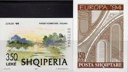 Naturpark 1999 Shqiperia Blocks 101+118 ** 14€ Europa Autobahn-Brücken Hoja S/s Blocs Art Sheets M/s Nature Bf CEPT - Albania