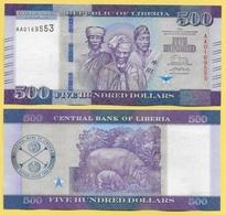 Liberia 500 Dollars P-36 2016 UNC - Liberia