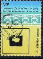 2016 - SPAGNA / SPAIN - SAN SEBASTIAN CAPITALE EUROPEA DELLA CULTURA / EUROPEAN CAPITAL OF CULTURE. USATO / USED - 1931-Oggi: 2. Rep. - ... Juan Carlos I
