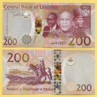 Lesotho 200 Maloti P-25 2015 UNC - Lesoto